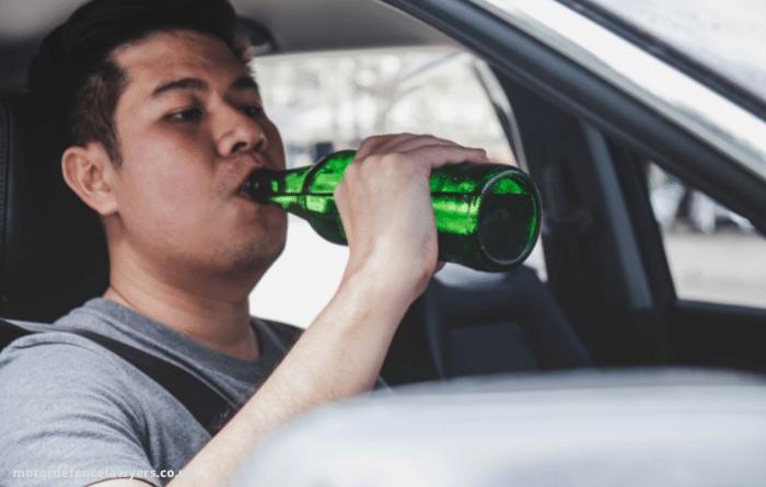 man drink driving