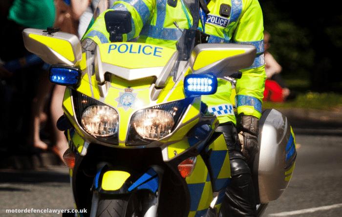 UK police motorbike